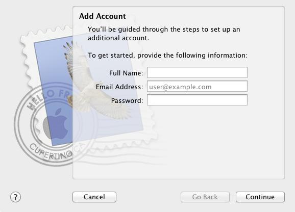 MM - Account Setup Screen Shot